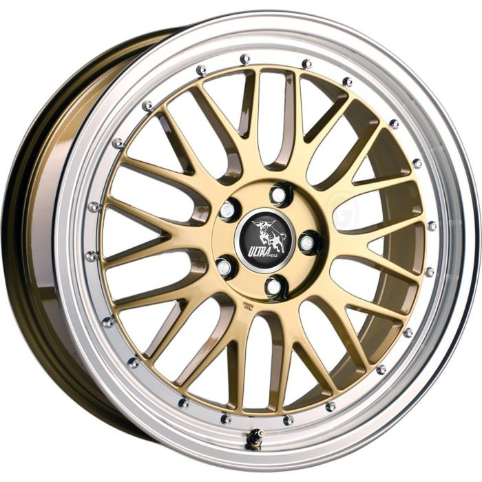 ULTRA WHEELS UA3 8.5X20 5X112 ET45 66.5 GOLD / LIP POLISHED  KBA-NEIN