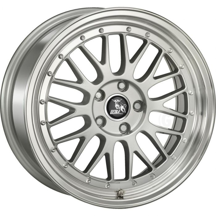 ULTRA WHEELS UA3 8.5X18 5X108 ET42 72.6 SILVER / LIP POLISHED