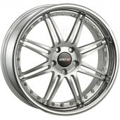 MOTEC ANTARES EVO 8.5X20 5X112 ET45 66.5 HIGH GLOSS SILVER/STEEL LIP MCT1 E
