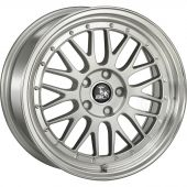 ULTRA WHEELS UA3 9.5X20 5X120 ET35 72.6 SILVER / LIP POLISHED
