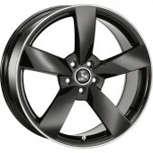 ULTRA WHEELS UA5 9X20 5X112 ET45 66.5 DARK GREY   M+S