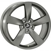 ULTRA WHEELS UA5 8X18 5X112 ET35 66.5 DARK GREY  KBA-50054 M+S