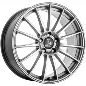 ULTRA WHEELS UA4 7.5X17 5X112 ET48 66.5 BLACK / RIM POLISHED  KBA-50060